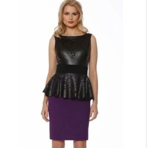 NWT NUE By Shani Violet And Black Dress S756 - 6